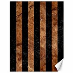 Stripes1 Black Marble & Brown Stone Canvas 36  X 48  by trendistuff