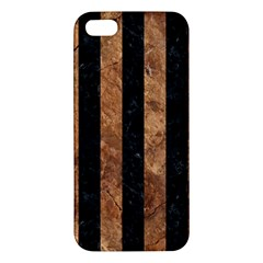 Stripes1 Black Marble & Brown Stone Iphone 5s/ Se Premium Hardshell Case by trendistuff