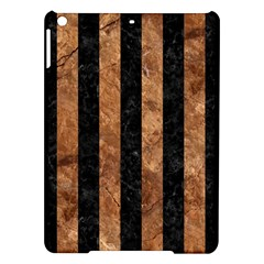 Stripes1 Black Marble & Brown Stone Apple Ipad Air Hardshell Case by trendistuff