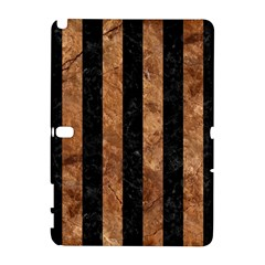 Stripes1 Black Marble & Brown Stone Samsung Galaxy Note 10 1 (p600) Hardshell Case by trendistuff