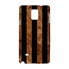 Stripes1 Black Marble & Brown Stone Samsung Galaxy Note 4 Hardshell Case by trendistuff