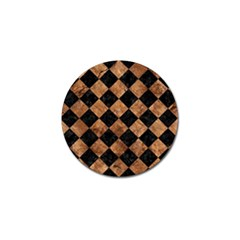 Square2 Black Marble & Brown Stone Golf Ball Marker (10 Pack) by trendistuff
