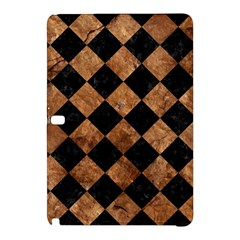 Square2 Black Marble & Brown Stone Samsung Galaxy Tab Pro 12 2 Hardshell Case by trendistuff