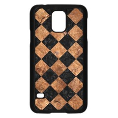 Square2 Black Marble & Brown Stone Samsung Galaxy S5 Case (black) by trendistuff
