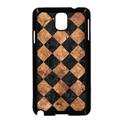 Square2 Black Marble & Brown Stone Samsung Galaxy Note 3 Neo Hardshell Case (black) by trendistuff