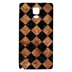 Square2 Black Marble & Brown Stone Samsung Note 4 Hardshell Back Case by trendistuff