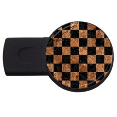 Square1 Black Marble & Brown Stone Usb Flash Drive Round (2 Gb) by trendistuff
