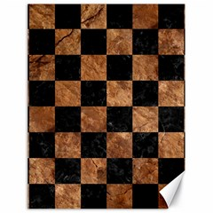 Square1 Black Marble & Brown Stone Canvas 18  X 24  by trendistuff