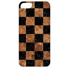 Square1 Black Marble & Brown Stone Apple Iphone 5 Classic Hardshell Case by trendistuff
