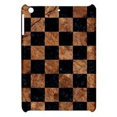 Square1 Black Marble & Brown Stone Apple Ipad Mini Hardshell Case by trendistuff