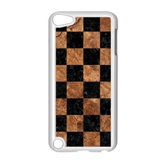 Square1 Black Marble & Brown Stone Apple Ipod Touch 5 Case (white) by trendistuff