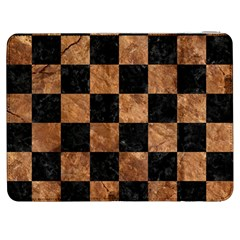 Square1 Black Marble & Brown Stone Samsung Galaxy Tab 7  P1000 Flip Case by trendistuff