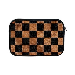 Square1 Black Marble & Brown Stone Apple Ipad Mini Zipper Case by trendistuff