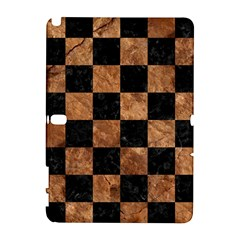 Square1 Black Marble & Brown Stone Samsung Galaxy Note 10 1 (p600) Hardshell Case by trendistuff