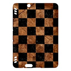 Square1 Black Marble & Brown Stone Kindle Fire Hdx Hardshell Case by trendistuff