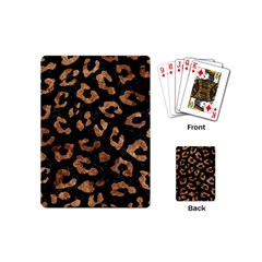 Skin5 Black Marble & Brown Stone (r) Playing Cards (mini) by trendistuff