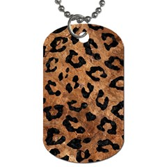 Skin5 Black Marble & Brown Stone Dog Tag (one Side) by trendistuff