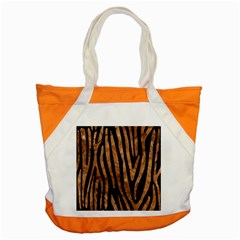 Skin4 Black Marble & Brown Stone (r) Accent Tote Bag by trendistuff