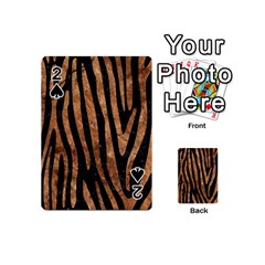 Skin4 Black Marble & Brown Stone (r) Playing Cards 54 (mini) by trendistuff