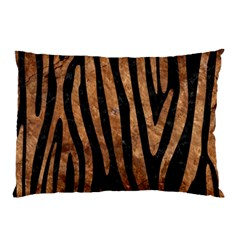 Skin4 Black Marble & Brown Stone (r) Pillow Case (two Sides) by trendistuff