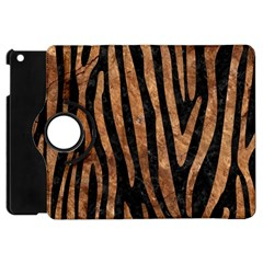 Skin4 Black Marble & Brown Stone (r) Apple Ipad Mini Flip 360 Case by trendistuff