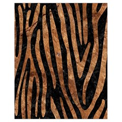 Skin4 Black Marble & Brown Stone (r) Drawstring Bag (small) by trendistuff