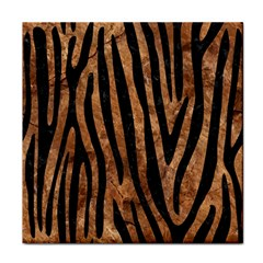 Skin4 Black Marble & Brown Stone Tile Coaster by trendistuff