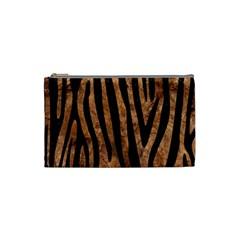 Skin4 Black Marble & Brown Stone Cosmetic Bag (small) by trendistuff