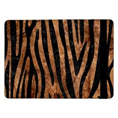 Skin4 Black Marble & Brown Stone Samsung Galaxy Tab Pro 12 2  Flip Case by trendistuff