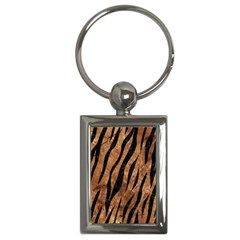 Skin3 Black Marble & Brown Stone (r) Key Chain (rectangle) by trendistuff
