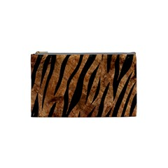 Skin3 Black Marble & Brown Stone (r) Cosmetic Bag (small) by trendistuff