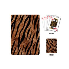 Skin3 Black Marble & Brown Stone (r) Playing Cards (mini) by trendistuff