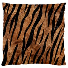 Skin3 Black Marble & Brown Stone (r) Large Flano Cushion Case (one Side) by trendistuff