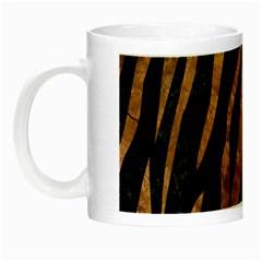 Skin3 Black Marble & Brown Stone Night Luminous Mug by trendistuff