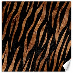 Skin3 Black Marble & Brown Stone Canvas 12  X 12  by trendistuff