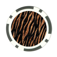 Skin3 Black Marble & Brown Stone Poker Chip Card Guard by trendistuff