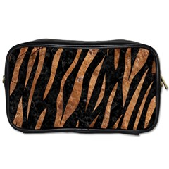 Skin3 Black Marble & Brown Stone Toiletries Bag (two Sides) by trendistuff