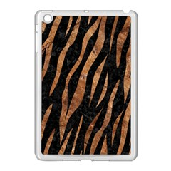Skin3 Black Marble & Brown Stone Apple Ipad Mini Case (white) by trendistuff