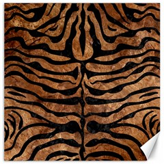 Skin2 Black Marble & Brown Stone (r) Canvas 12  X 12  by trendistuff