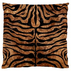 Skin2 Black Marble & Brown Stone (r) Large Flano Cushion Case (two Sides) by trendistuff