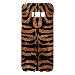 Skin2 Black Marble & Brown Stone (r) Samsung Galaxy S8 Plus Hardshell Case  by trendistuff