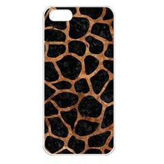 Skin1 Black Marble & Brown Stone (r) Apple Iphone 5 Seamless Case (white) by trendistuff