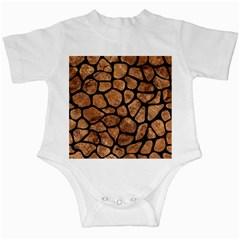 Skin1 Black Marble & Brown Stone Infant Creeper by trendistuff