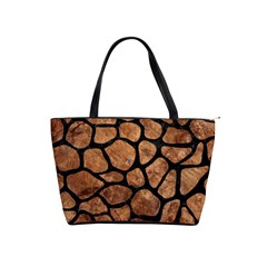 Skin1 Black Marble & Brown Stone Classic Shoulder Handbag by trendistuff