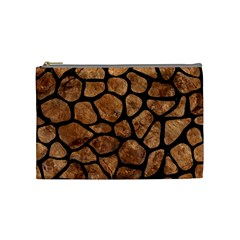 Skin1 Black Marble & Brown Stone Cosmetic Bag (medium)