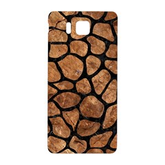 Skin1 Black Marble & Brown Stone Samsung Galaxy Alpha Hardshell Back Case by trendistuff