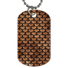 Scales3 Black Marble & Brown Stone (r) Dog Tag (two Sides) by trendistuff