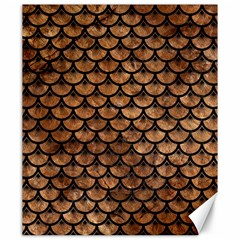Scales3 Black Marble & Brown Stone (r) Canvas 20  X 24  by trendistuff