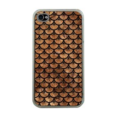 Scales3 Black Marble & Brown Stone (r) Apple Iphone 4 Case (clear) by trendistuff