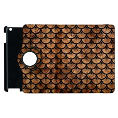 Scales3 Black Marble & Brown Stone (r) Apple Ipad 3/4 Flip 360 Case by trendistuff